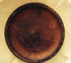 Сувенирная тарелка карта Кинбурнской косы